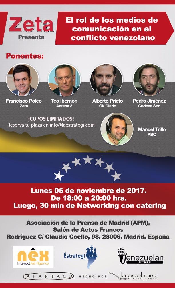 """I Foro Zeta-España: """"El rol de los Medios de Comunicación en el conflicto venezolano"""""""