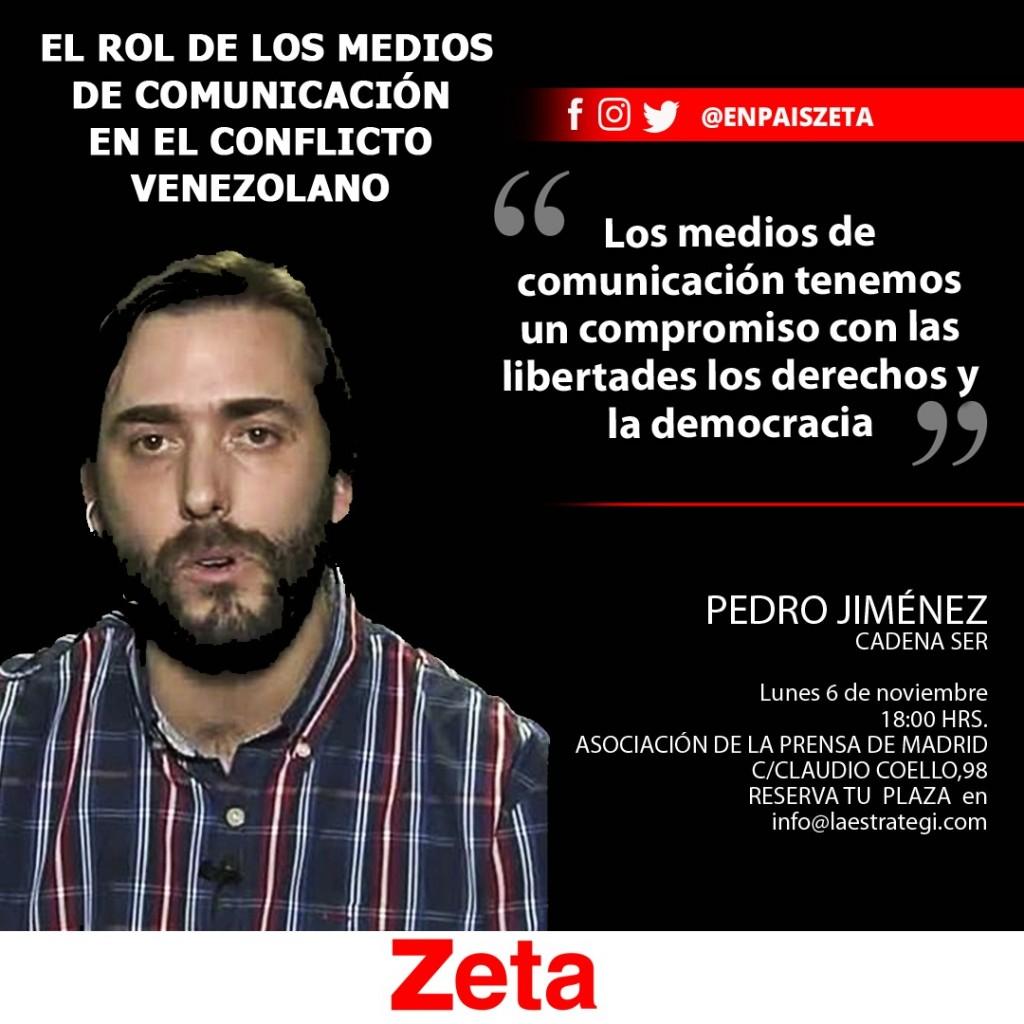 """Pero Jiménez en el I Foro Zeta-España: """"El rol de los Medios de Comunicación en el conflicto venezolano"""""""