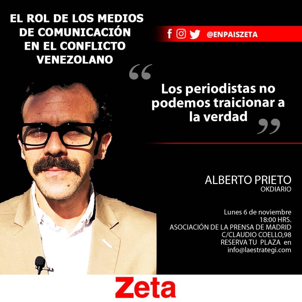 """Alberto Prieto en el I Foro Zeta-España: """"El rol de los Medios de Comunicación en el conflicto venezolano"""""""