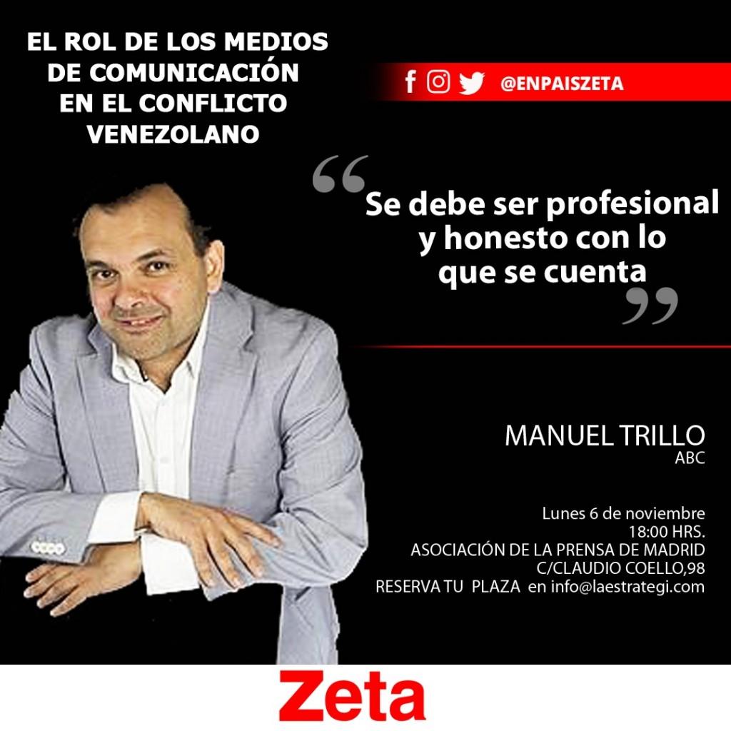 """Manuel Trillo en el I Foro Zeta-España: """"El rol de los Medios de Comunicación en el conflicto venezolano"""""""