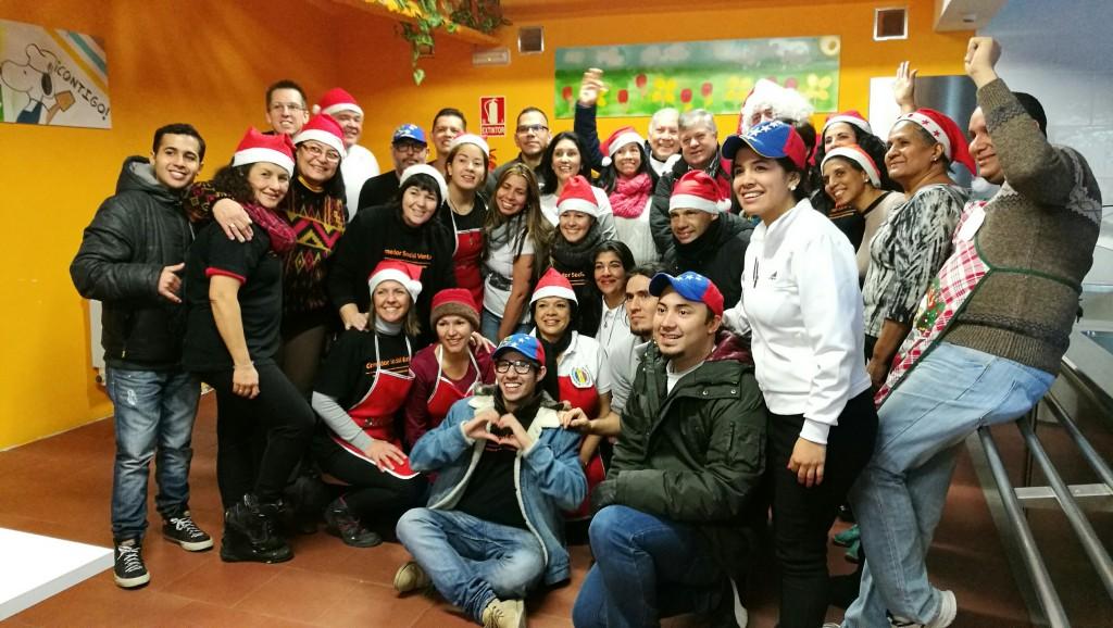 Familias venezolanas en Madrid reciben ayudas por Navidad