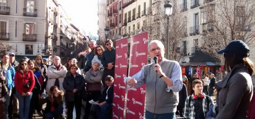 Ledezma en Madrid. Foto: Nancy Sanchez