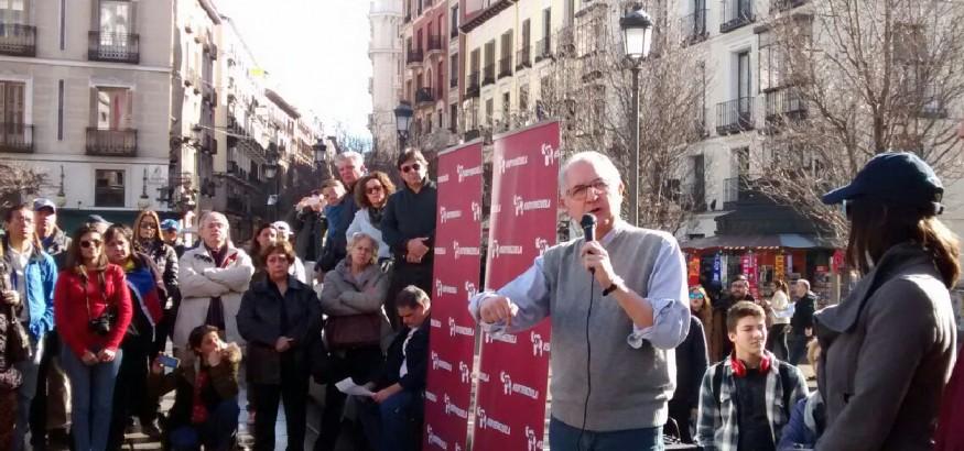 Ledezma en Madrid. Foto: Nancy Sanchez