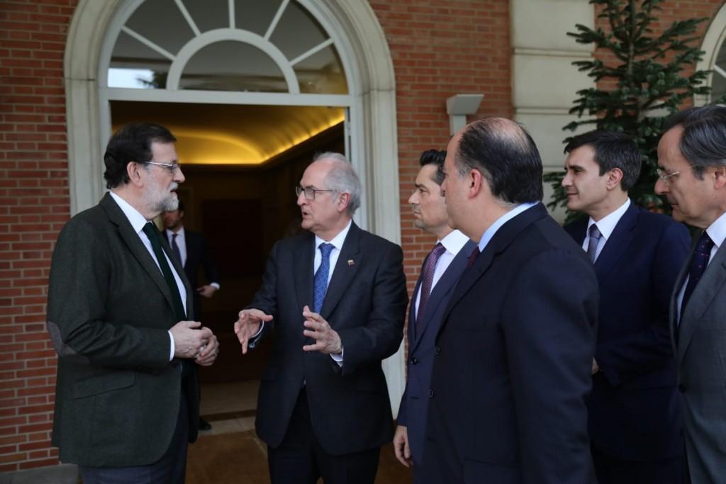 Mariano Rajoy, Antonio Ledezma, Julio Borges, Lester Toledo y Carlos Vecchio