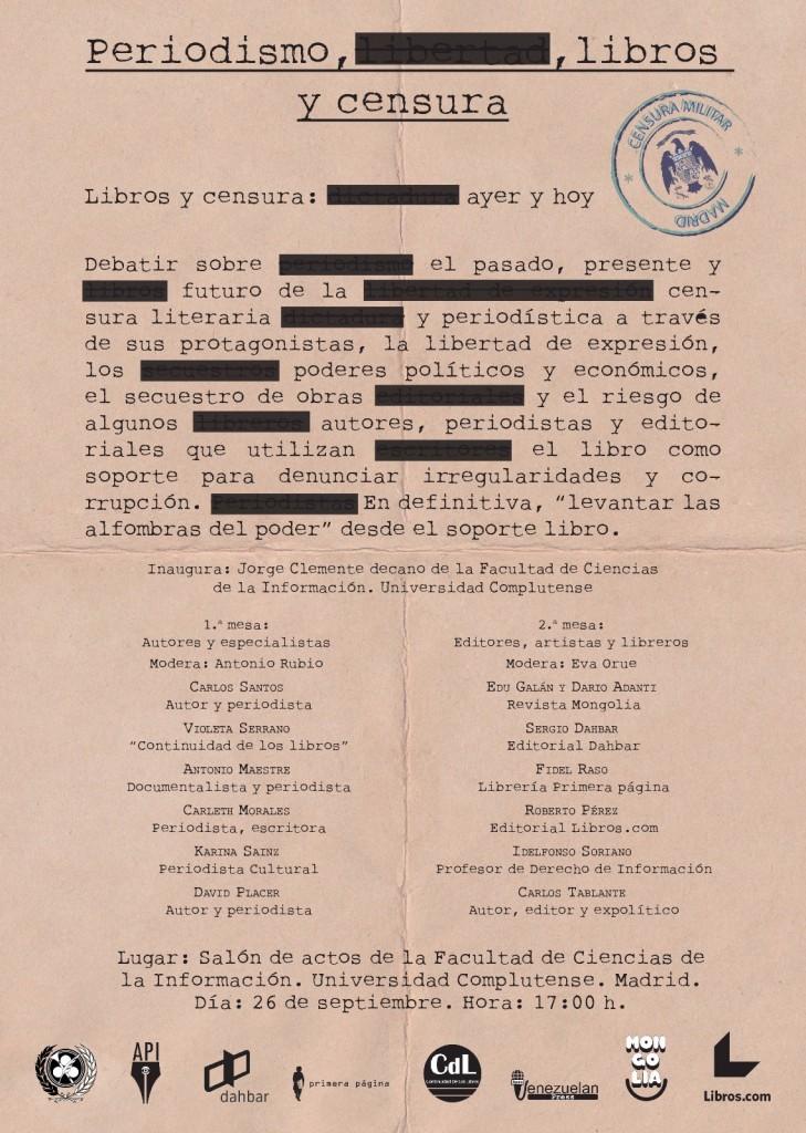 periodismo, libros y censura