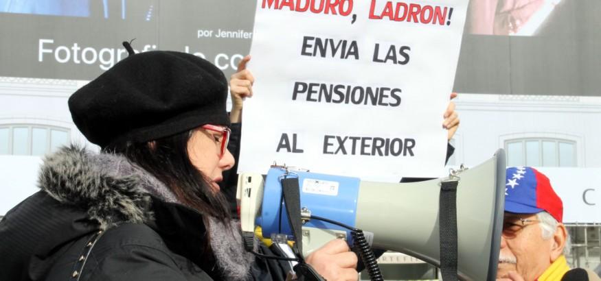 Pensioandos venezolanos en Madrid