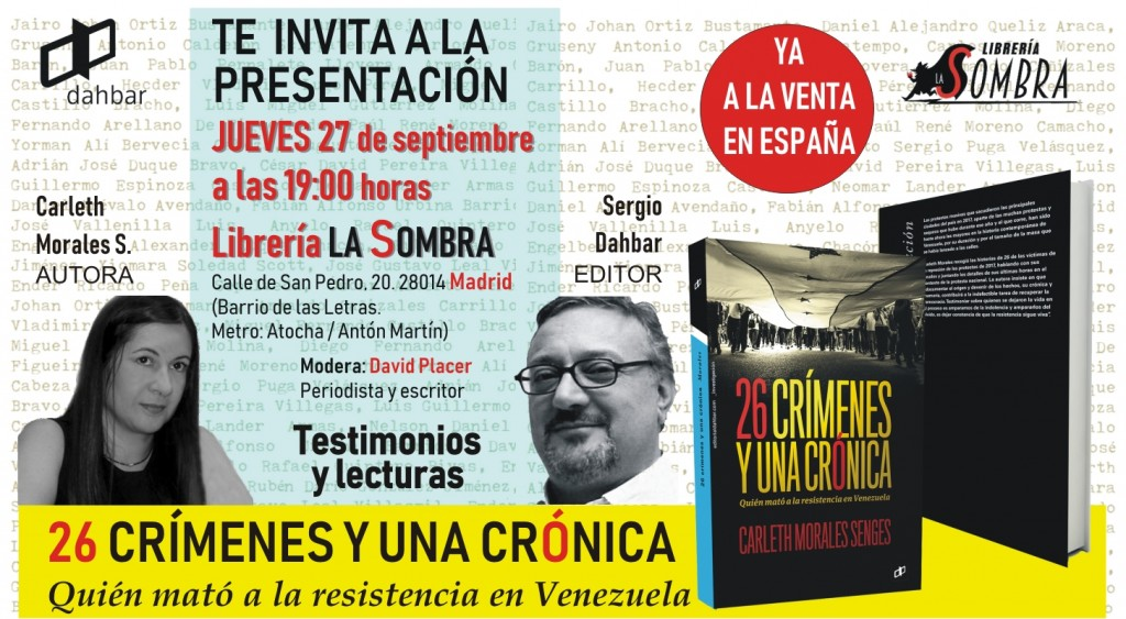 26 crímenes y una crónica llega a España