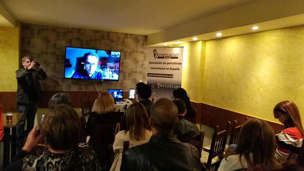 Conversatorio con Venezuelan Press Alonso Moleiro y Eva Gutierrez