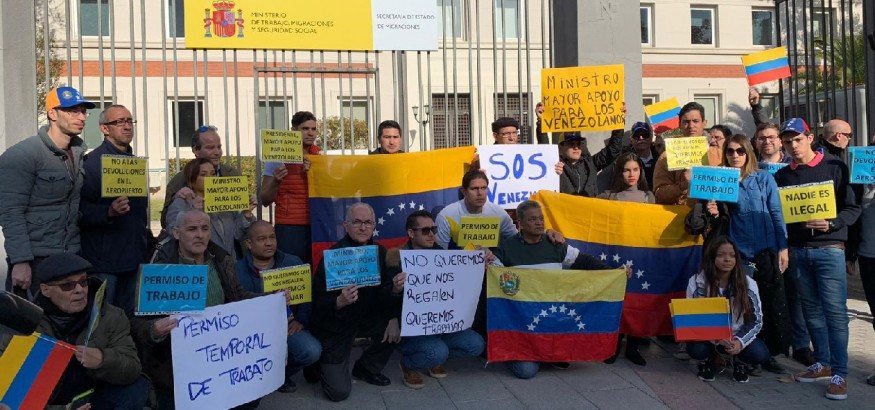 venezolanos-se-manifiestan-en-Madrid