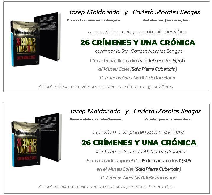 26 crímenes y una crónica. Quién mató a la resistencia en Venezuela en Barcelona en febrero 2019