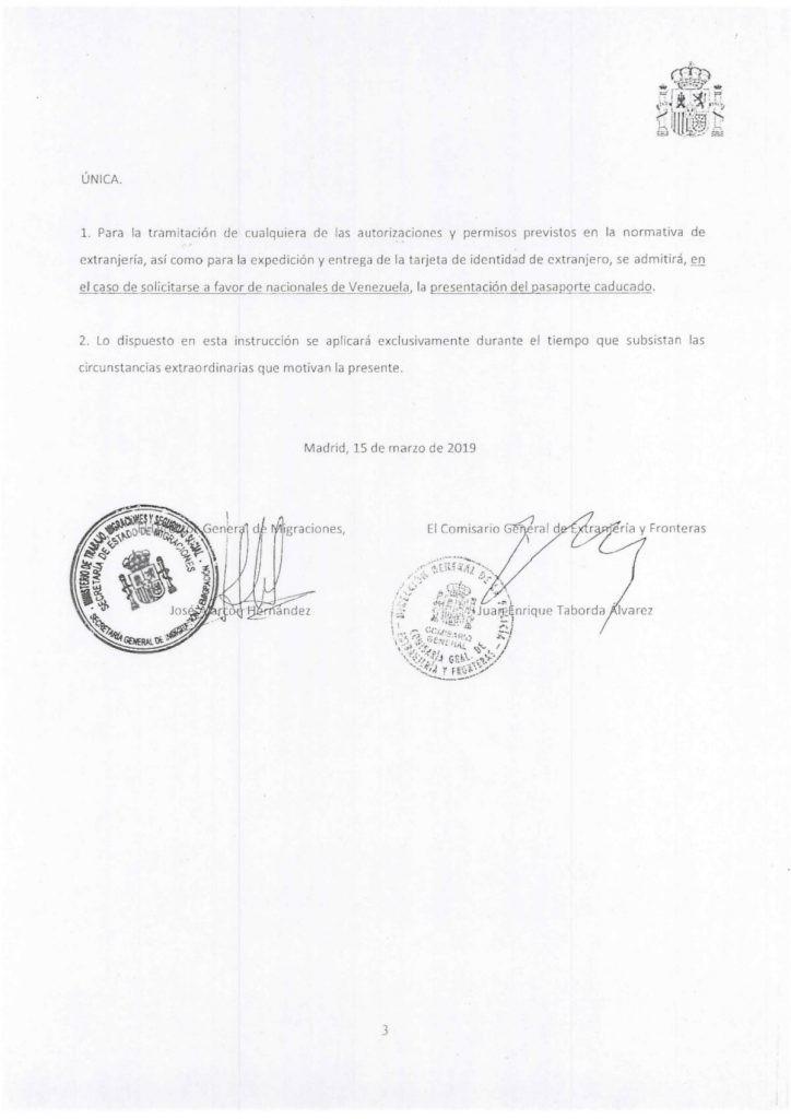 Instrucción venezolanos pasaporte