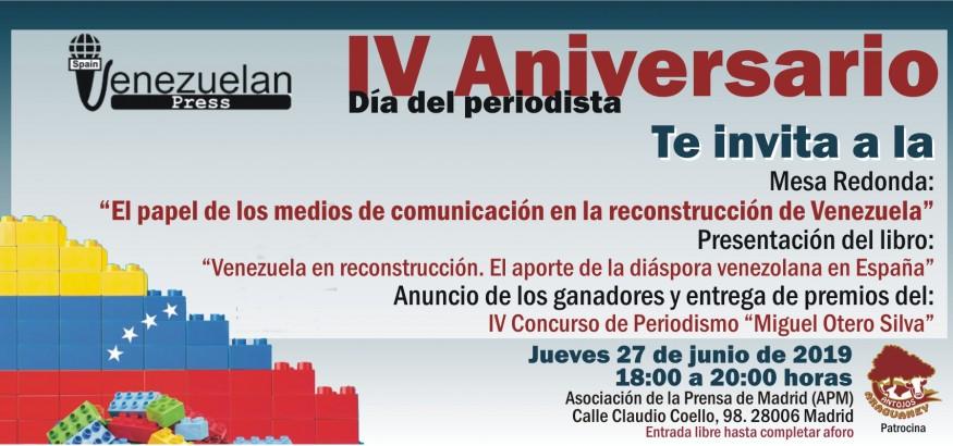 IV aniversario Asociacion Venezuelan Press