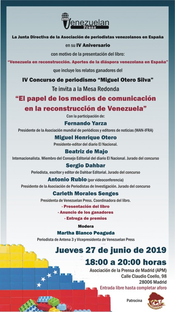 Invitacion IV Aniversario Venezuelan Press