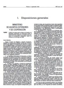 BOE canje del carnet de conducir venezolano en España