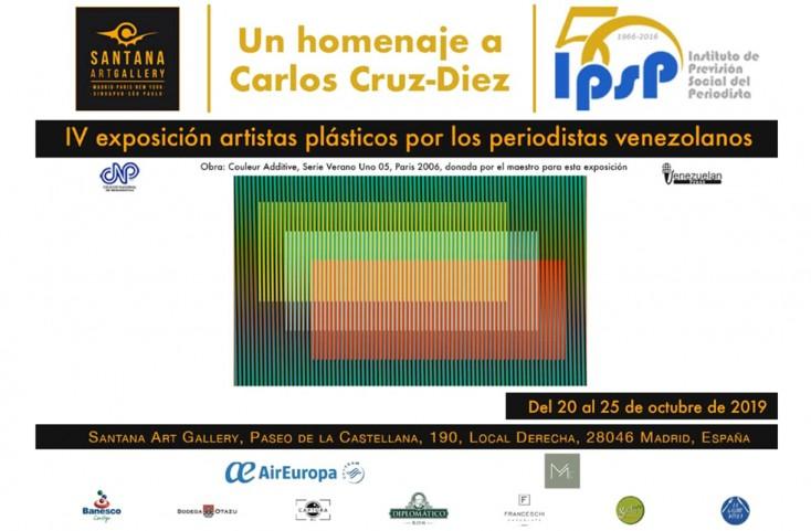 """""""Homenaje al maestro Carlos Cruz-Diez"""", la exposición del IPSP en Madrid con el apoyo de Venezuelan Press y el CNP"""