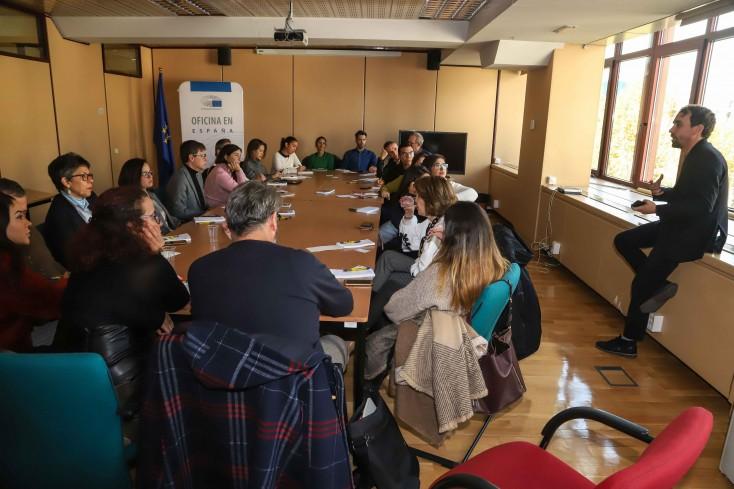 La visita al Gabinete de Comunicación del Parlamento Europeo en España