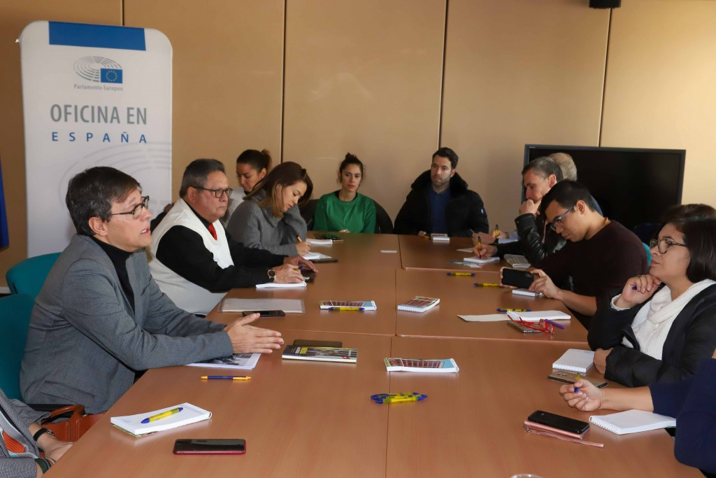 Inmersión en el Gabinete de Comunicación del Parlamento Europeo. Foto: Jack Bocaranda