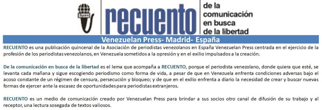 RECUENTO VENEZUELAN PRESS