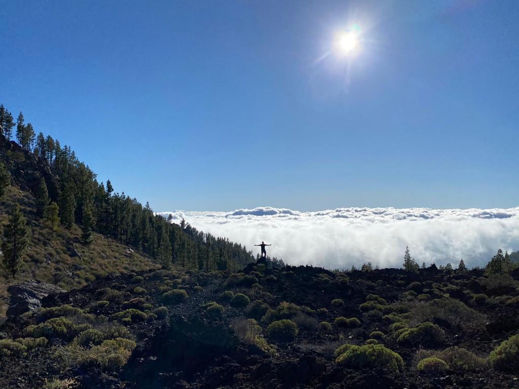 Laura La Cruz. La naturaleza de la paz. El Teide. Tenerife