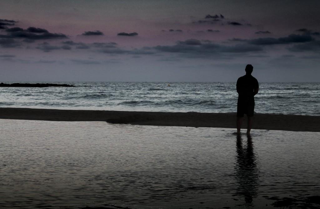 Lilian Rosales. Tomar aliento. Playa de Altafulla. Cataluña.