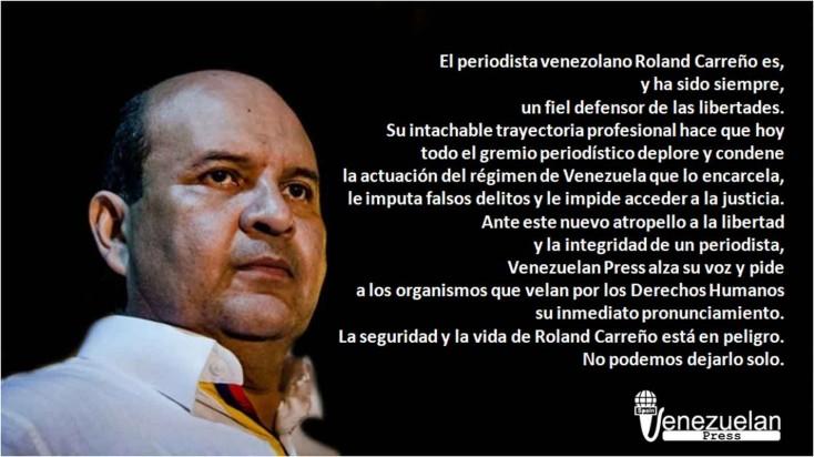 #RolandUnMesPreso, sumemos voluntades