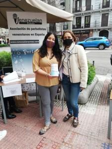 Marianela Balbi en la campaña Una mascarilla para los periodistas en Venezuela