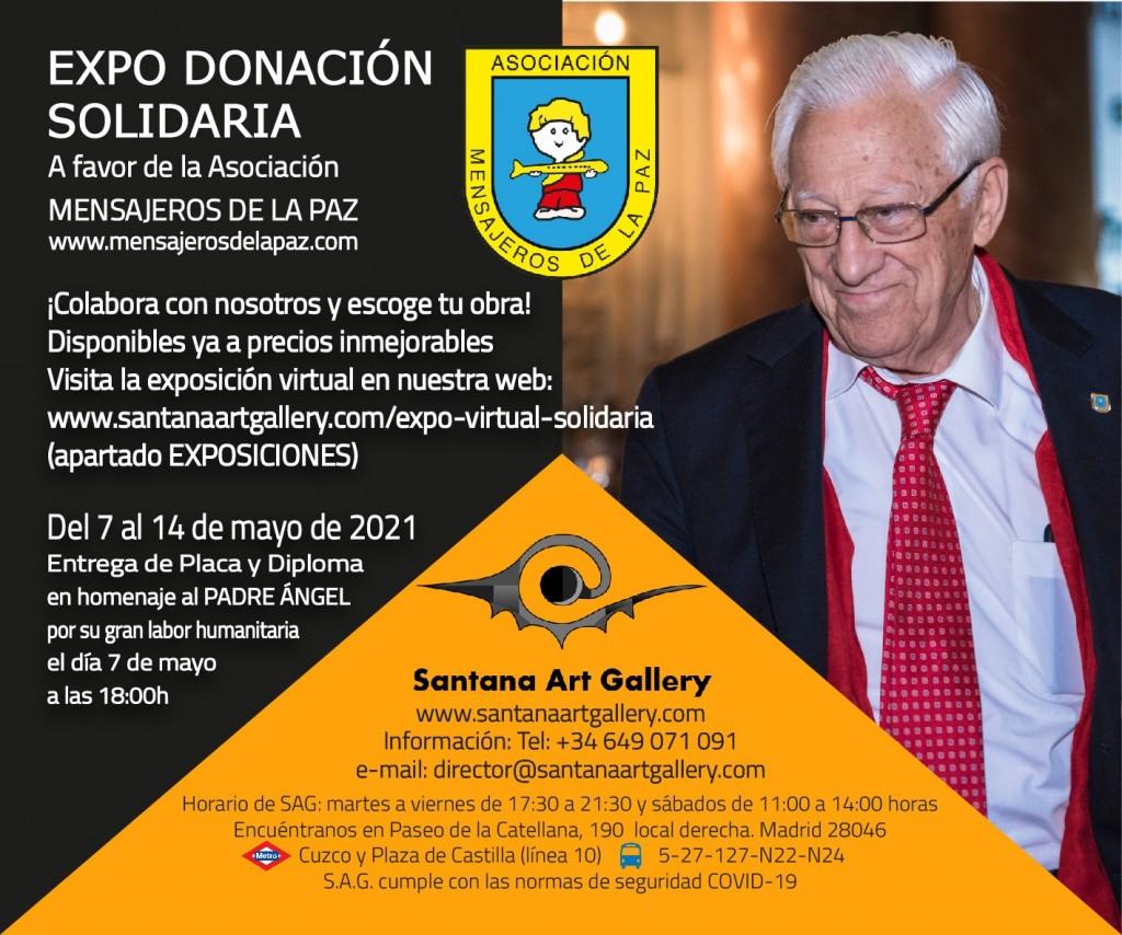 Exposición Donación Solidaria a favor de Mensajeros de la Paz