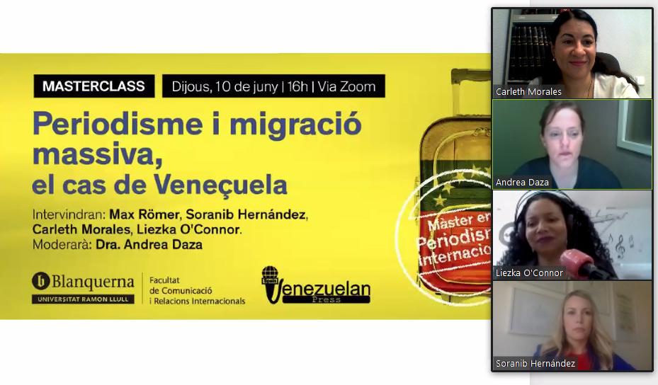 Charla-Venezuelan-Press-Universidad Ramon Llull
