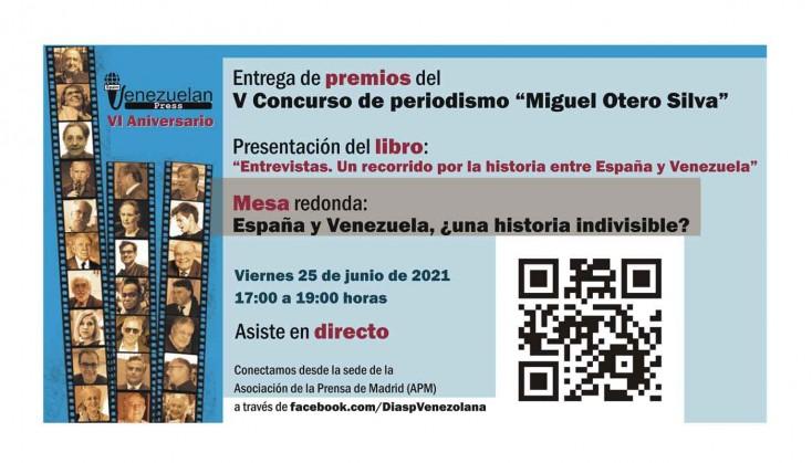 """""""Entrevistas. Un recorrido por la historia entre España y Venezuela"""": Libro y Mesa redonda en el VI Aniversario de Venezuelan Press"""