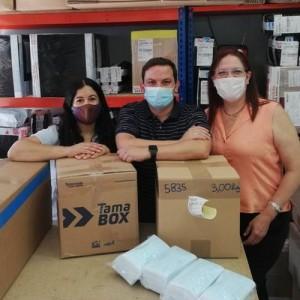 Venezuelan Press envía desde España una segunda remesa de 6.500 mascarillas a los periodistas en Venezuela