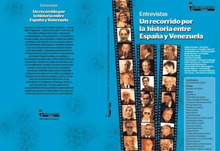 """""""Entrevistas. Un recorrido por la historia entre España y Venezuela"""", disponible en Amazon"""