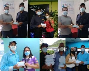 Trujillorecibe mascarillas de Venezuelan Press